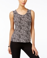 JM Collection Petite Printed Jacquard Tank, Created for Macy's