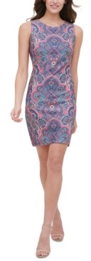 Tommy Hilfiger Paisley-Print Scuba Sheath Dress