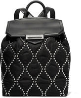 Alexander Wang Prisma stud-embellished shell and leather backpack