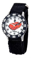 Disney Boys' Cars Stainless Steel with Bezel Watch - Black