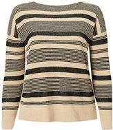Ralph Lauren Woman Striped Linen-Cotton Sweater
