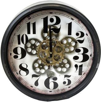 Sagebrook Home Moving Gear Wall Clock