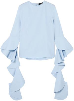 Ellery Emmeline Ruffled Cotton-poplin Top