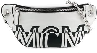 MCM Logo Print Belt Bag