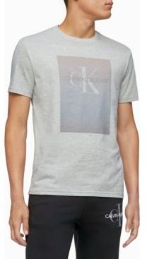 Calvin Klein Men's Monogram Logo Gradient Block Crewneck T-shirt
