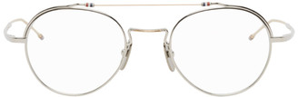 Thom Browne Silver and Gold Round TBX912 Glasses