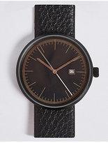 M&S Collection Modern Round Date Watch