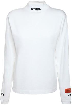 Heron Preston Mock Collar L/s Cotton Jersey T-shirt