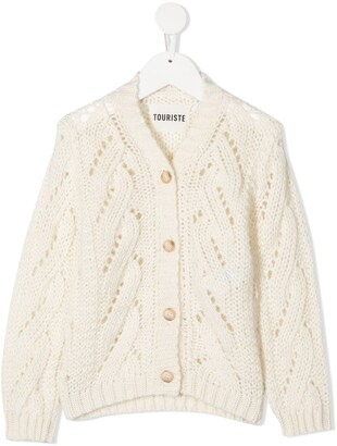 Touriste V-Neck Cable Knit Cardigan