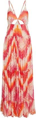 Rococo Sand Tie-Dye Chiffon Maxi Dress