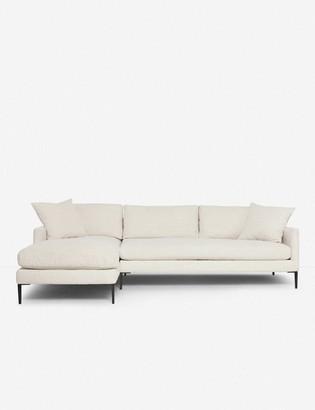 Lulu & Georgia Allisen Left-Facing Sectional Sofa, Sand