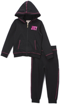 Juicy Couture Navy & Fuchsia Hoodie & Sweatpants - Girls