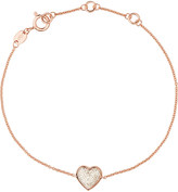 Links of London Heart rose gold and diamond bracelet