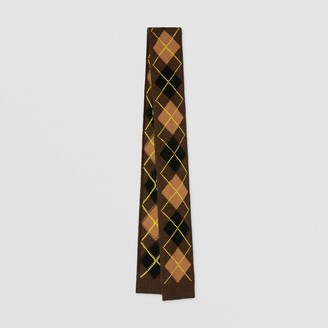 Burberry Argyle Intarsia Wool Cashmere Scarf