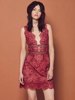 For Love & Lemons Mon Cheri Mini Dress in Rouge