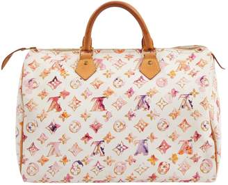 Louis Vuitton White Cloth Handbag