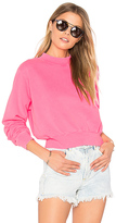 Cotton Citizen The Milan Cropped Sweatshirt in Pink. - size L (also in M,S)