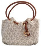 Michael Kors East West Ring Tote in Signature PVC