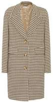 Stella McCartney Checked stretch-wool coat