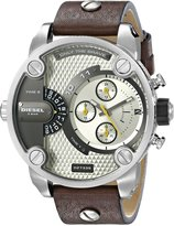 Diesel dz7335 51mm Stainless Steel Case Brown Calfskin Mineral Men's Watch