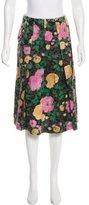 Miu Miu Jacquard Knee-Length Skirt