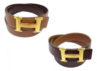 Hermes H Brown Leather Belts