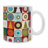 "DENY Designs Sharon Turner ""Geo Christmas"" Mugs (Set of 2)"