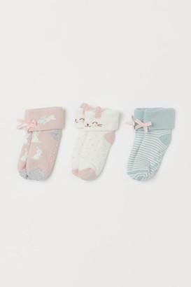 H&M 3-pack Terry Socks - White