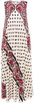 RED Valentino Printed Silk Crepe De Chine Midi Dress