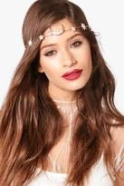 boohoo Womens Lucy Moon & Stars Mermaid Headband in Gold size One Size