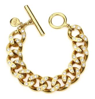 Ben Amun Crystal Curb-Link Chain Bracelet
