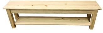 "Loon Peakâ® Pelagia Wood Storage Bench Loon PeakA Size: 17"" H x 36"" W x 12"" D, Color: Natural"