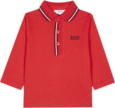 HUGO BOSS Elbow patch cotton polo shirt 6-36 months