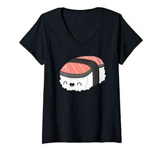 Womens Funny Group Matching Sushi Salmon Halloween Party Costume V-Neck T-Shirt