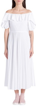 RED Valentino Pleated Dress In Popeline