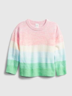 Gap Toddler Ombre Stripe Crewneck Sweater