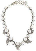 Oscar de la Renta Fanned Faux Pearl & Crystal Collar Necklace