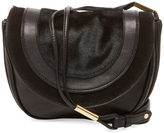 Diane von Furstenberg Small Leather & Calf Hair Saddle Crossbody