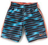 Nike Big Boys 4-7 Blurred Stripe Swim Trunks