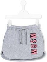 MSGM logo appliqué skirt - kids - Cotton - 6 yrs
