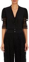 Gary Graham Women's Pleated & Smocked Silk Blouse