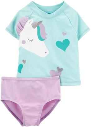 Carter's Baby Girl Unicorn 2-Piece Rashguard Set