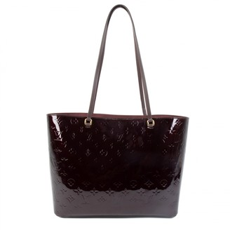 Louis Vuitton Long Beach Burgundy Patent leather Handbags