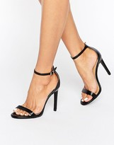 Public Desire Avril Black Barely There Heeled Sandals