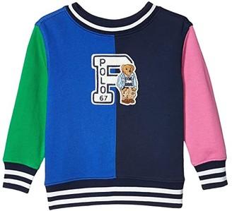 Polo Ralph Lauren Polo Bear Cotton Sweatshirt (Toddler) (Travel Blue) Boy's Clothing