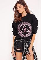 Missguided Graphic Sweatshirt Black