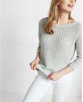 Express T-back Drop Needle Pullover Sweater