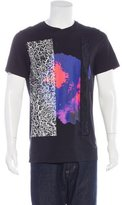 Lanvin Abstract Satin-Trimmed T-Shirt