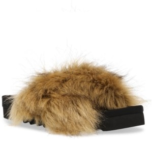 Steve Madden Women's Amari Faux Fur Slippers