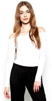 Michael Lauren Santorini Open Shoulder Top in White